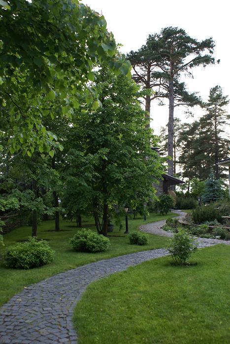 ландшафтное озеленение и укладка садовых дорожек